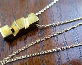 Vintage Whistle Necklace - no.2 -