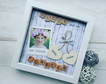 Fathers day Daddy, Fathering Sunday, Scrabble Art Frame, Frame For Daddy, Daddy Gift, Gift For Daddy, New Dad Gift, Birthday Gift For Daddy