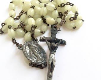 Unique Vintage Fluorescent Beads Rosary