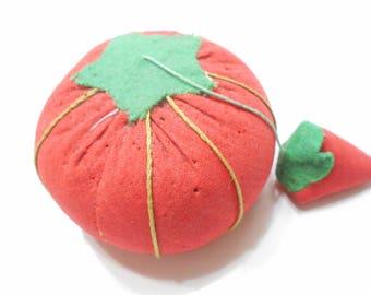 Vintage Tomato & Strawberry Pincushion (2853) (31)