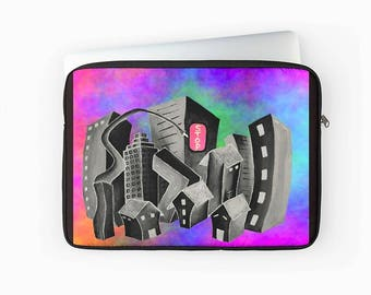 Fun Laptop Sleeve, Macbook Air / Pro / Retina, 12 inch, 13 inch or 15 inch, Laptop Cover with Zip, Padded Laptop Bag, Art Laptop Sleeve