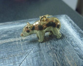 Gold bear necklace