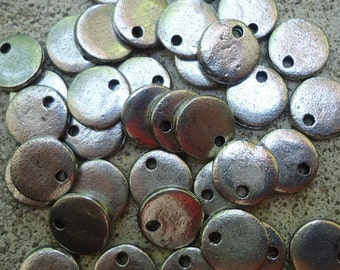 """10 3/8"""" Mini Silver Pewter Blank Stamping Discs"""