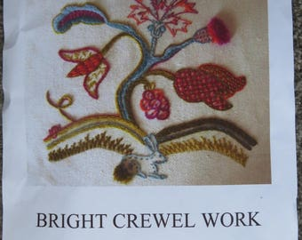 Crewel Work Floral Embroidery Kit