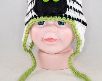 Zack the Zebra Baby Crocheted Laplander