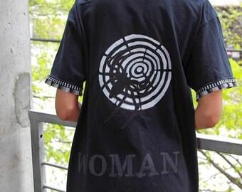 Boho Kimono Festival Jacket Kimono Cardigan Oversized T Shirt Fringe Bohemian Upcycled Tshirt Spider Woman Graphic Tee