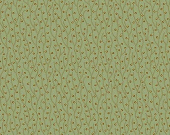 Crystal Farm 8623-T by Edyta Sitar of Laundry Basket Quilts for Andover. Pattern, Spring Sprouts - Color, sage
