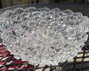 Beautiful Deep Cut Crystal Bowl