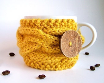 Coffee Cozy, Knit Cup Cozy, Coffee Sleeve, Coffee Cup Sleeve, Coffee Mug Cozy, Tea Cozy, Coffee Gifts, Gifts Under 20 Tea Gifts Rustic Gifts