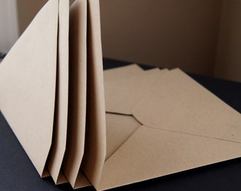 """10 Pointed Flap A7 Invitation Envelopes in Paper Bag . 5.25"""" x 7.25"""""""