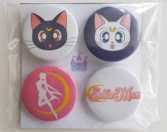 Sailor Moon buttons/pins/badges 4pcs set