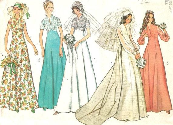 6160 Einfachheit Nähen Muster Hochzeit Kleid abnehmbare