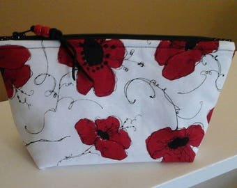 Loralie design Lady in Red cosmetic pouch.