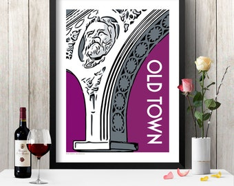 OLD TOWN Chicago Neighborhood Poster