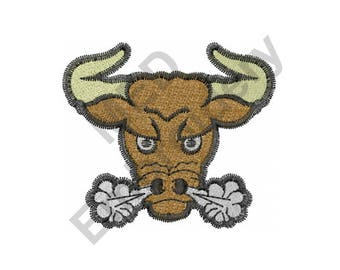 Bull - Machine Embroidery Design, Mad Bull