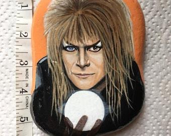 Labyrinth Jareth painted rock