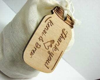 Wedding Hang Tags, Mason Jar Hang Tags, Wooden Hang Tags