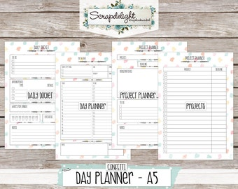 Scrapdelight Printable Planner Kit 2017 - Confetti - A5 Day Planner