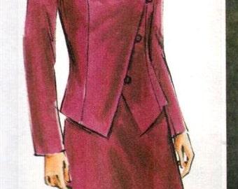 """SALE* Vogue 7772, Sz 20-24/Bust 42-46"""".   Vogue Woman Suit/Plus Size Princess Seam Jacket and Contour Waist A-line Skirt/Pants, UNCUT"""