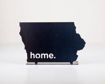 Iowa Home State Steel Sign - Metal State Decor