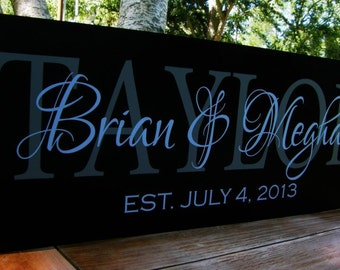 Last Name Signs Personalized Wedding Gift Mr. and Mrs. Established Sign Family Established Wedding Established sign Bridal Shower Gift