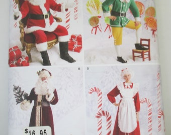 Simplicity 2542 Sewing paper pattern  adult Santa Claus, Mrs Claus, and elf costume  pattern size  (AA XS, S, M) uncut