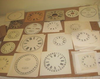 Assorted lot of Clock faces  mostly new   [geo3814bs]