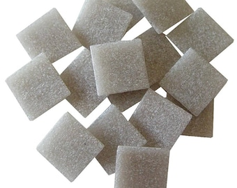 25 ct - 3/4 inch GRAY Vitreous Mosaic Tiles - DTI