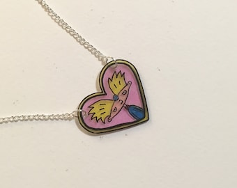Hey Arnold Helgas Locket Heart Necklace