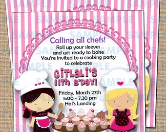 Cupcake Decorating Party Invitations 3