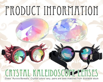 INFO Octopunx Glass Crystal Prism Kaleidoscope Goggle Lenses - Information ONLY Do Not Buy This Listing