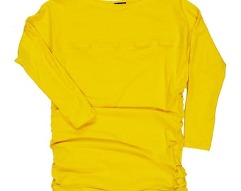 Yellow Rouched Top