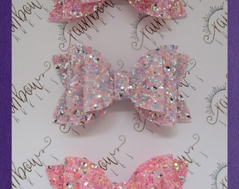 Chunky glitter sequin bows