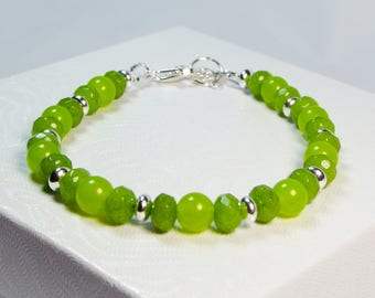 "Cynthia Lynn ""CONNECT THE PERIDOTS"" Sterling Silver Peridot August Birthstone Bracelet"
