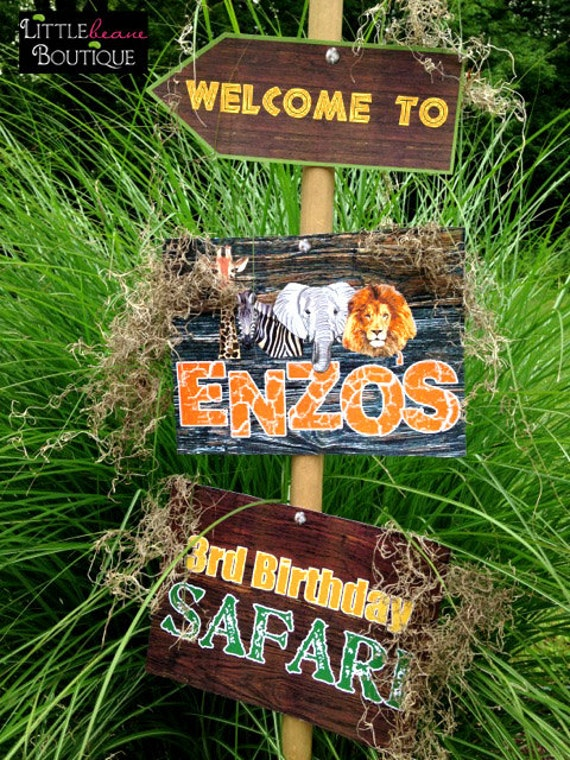 Printable Safari Jungle Signs Welcome SignsDIY African