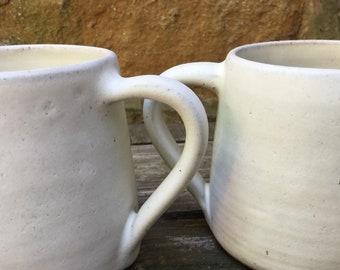 Pair of hand made tea mugs