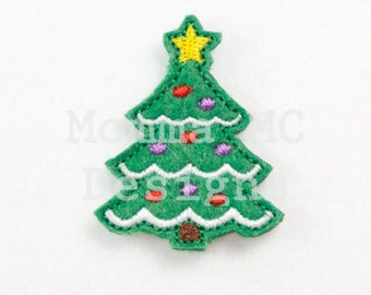 Christmas Tree Felt Feltie Embroidery Design
