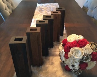 Wood Flower Vase