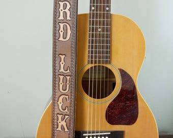 Tooled Leather Custom Guitar Strap