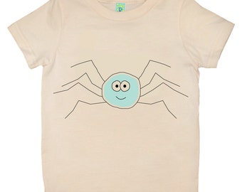 Organic cotton short sleeve kids T-shirt with screen printed bug design by Bugged Out, made in the USA
