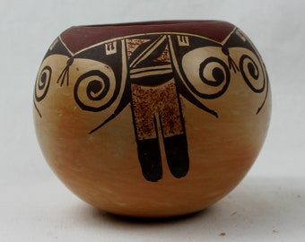 Native American Vintage Hopi Pottery Bowl, by Ankle Sahmie Nampeyo, Ca 1970. #1318 c