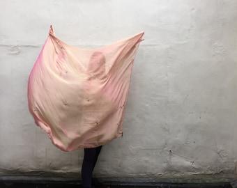 pink two tone - Swan Transforming Silk Zodiac Shawl