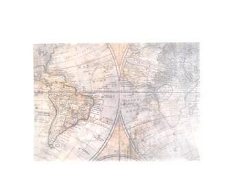 3pcs Translucent World Map Envelope Set, Letter Envelopes - LT024