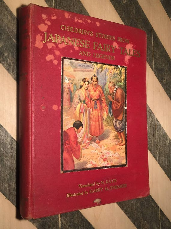 Children's Stories from Japanese Fairy Tales and Legends (1920) hardcover book