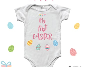 Godchild easter gift etsy my first easter onesie my first easter outfit baby girl godchild easter gift negle Choice Image