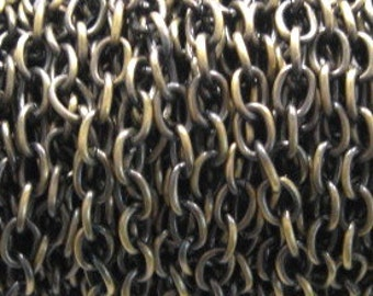 Antique Brass Plated 6.3mm Drawn Cable Chain - 3 feet