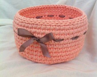 A basket of knitting yarn