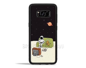 Galaxy S8 Plus Case Space Cat Galaxy S7 case Nintendo NES Galaxy Note 8 case Galaxy S6 Edge Case Space Kitty Cat Phone Case