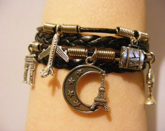 Paris bracelet, Paris jewelry, France bracelet, France jewelry, travel bracelet, travel jewelry, tourist bracelet, tourist jewelry