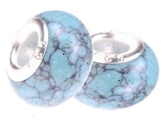 Howlite turquoise imitation Pearl style Pandor a